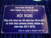 Đại Hội Công Đoàn Trường THCS Phan Bội Châu 2017-2018
