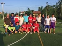 Giao lưu bóng đá với trường THCS Chu Văn An