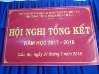 Hội nghị tổng kết năm học 2017-2018