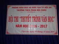 Hội thi thuyết trình văn học năm học 2016- 2017