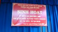 Sinh hoạt ngoại khóa kỷ niệm 140 năm chí sỹ yêu nước cụ Huỳnh Thúc Kháng