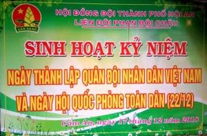 Chào mừng kỉ niệm 74 ngày thành lập QĐND Việt Nam và 29 năm ngày Quốc phòng toàn dân