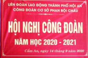 Hội nghị công đoàn năm học 2020 - 2021