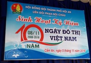 Sinh hoạt kỷ niệm 10 năm ngày đô thị Việt Nam