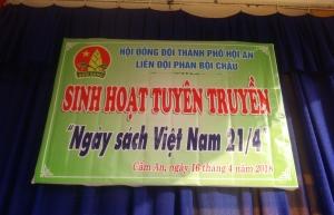 Sinh hoạt tuyên truyền ngày sách Việt Nam 21/4