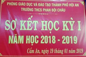 Sơ kết học kỳ 1 năm học 2018 - 2019