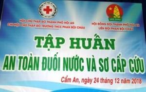 """Tập huấn """"An toàn đuối nước và sơ cấp cứu"""""""